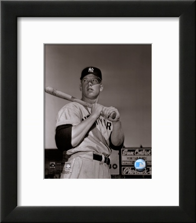Mickey Mantle- With bat looking towards his right Prints