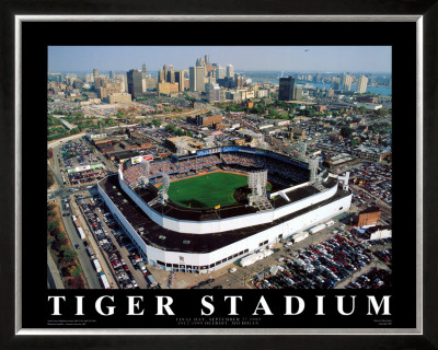 Detroit - Tiger Stadium Final Game Poster by Mike Smith