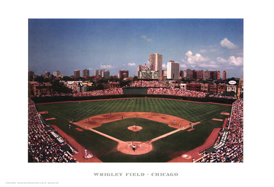 Wrigley Field - Chicago Reproduction d'art