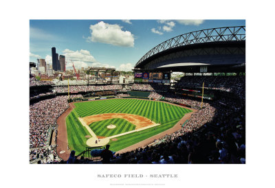 Safeco Field, Seattle Art Print