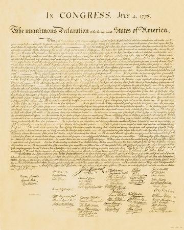 Deklarace nezávislosti (Declaration of Independence) Umělecká reprodukce