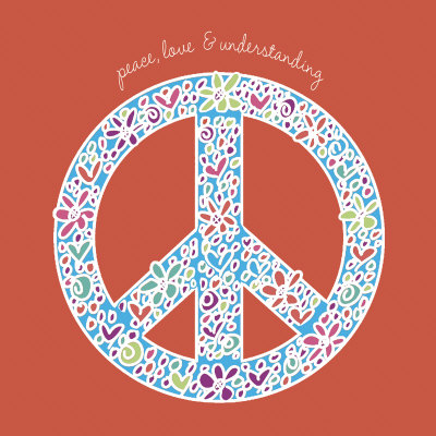 Peace, Love and Understanding Art Print