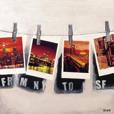 From NY To SF Kunstdrucke von Vincent Gachaga
