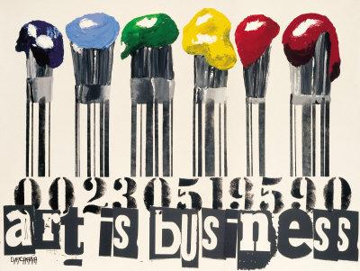 Art Is Business Kunstdrucke von Vincent Gachaga