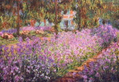 El jardín del artista en Giverny, ca. 1900 Lámina