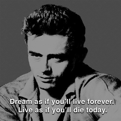 James Dean: Live Reproduction d'art