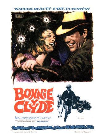 Bonnie and Clyde, Faye Dunaway, Warren Beatty, 1967 Photo