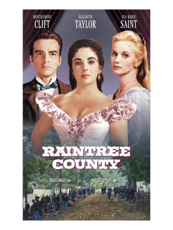 Raintree County, Montgomery Clift, Elizabeth Taylor, Eva Marie Saint, 1957 Photo