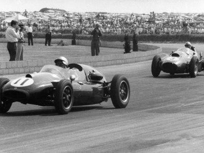 Jack Brabham leads in his Cooper T45, 1958 British Grand Prix Photographic Print