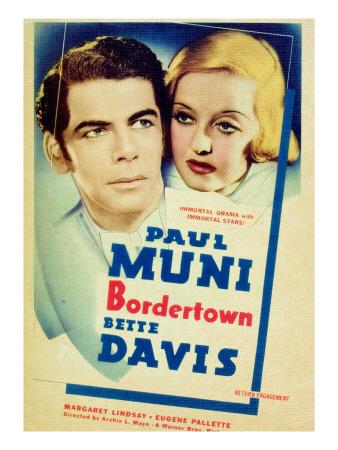 Bordertown, Paul Muni, Bette Davis, 1935 Photo
