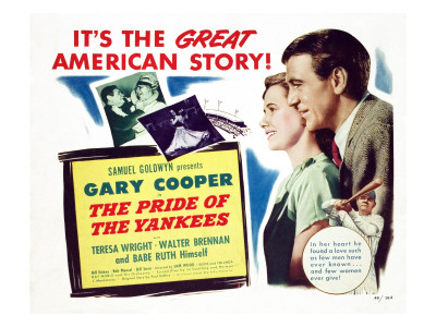 The Pride of the Yankees, Teresa Wright, Gary Cooper, Babe Ruth, 1942 Premium Poster
