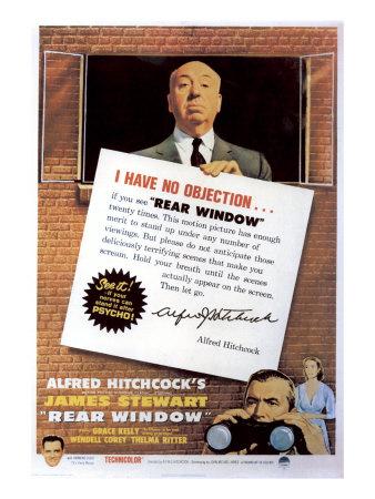 Rear Window, Alfred Hitchcock, James Stewart, Grace Kelly, 1954 Photo