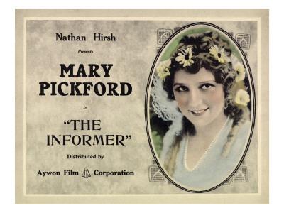 The Informer, Mary Pickford, 1912 Photo