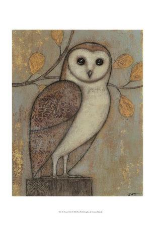 Ornate Owl I Print by Norman Wyatt Jr.