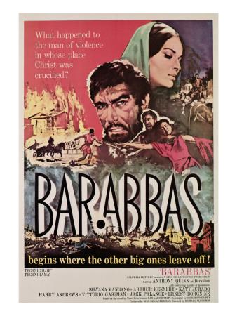 Barabbas, from Left, Anthony Quinn, Silvana Mangano, 1962 Photo