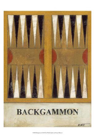 Backgammon Print by Norman Wyatt Jr.