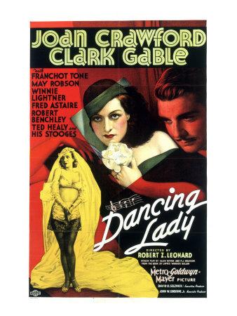 Dancing Lady, Joan Crawford, Clark Gable, 1933 Photo