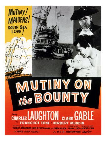 Mutiny on the Bounty, Movita, Clark Gable, Charles Laughton, 1935 Photo