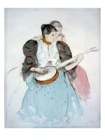 The Banjo Lesson, Painting by Mary Cassatt, 1894 Photo