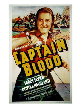 Captain Blood, Errol Flynn, 1935 Photo