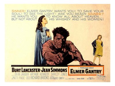 Elmer Gantry, Jean Simmons, Burt Lancaster, Shirley Jo Nes, 1960 Photo