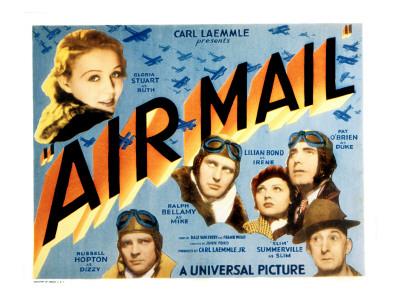 Air Mail, Gloria Stuart, Russell Hopton, Ralph Bellamy, Lilian Bond, Pat O'Brien, 1932 Photo