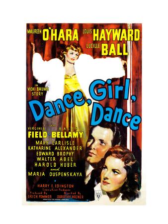 Dance, Girl, Dance, Lucille Ball, Louis Hayward, Maureen O'Hara, 1940 Photo