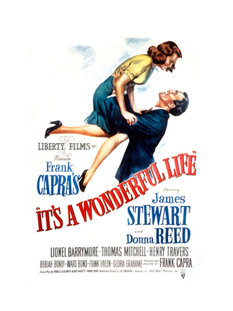 It's a Wonderful Life, Donna Reed, James Stewart, 1946 Premium Poster