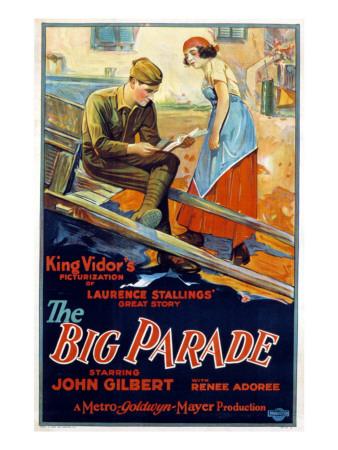 Big Parade, John Gilbert, Renee Adoree, 1925 Photo