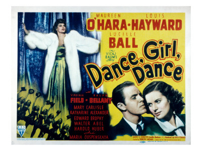 Dance, Girl, Dance, Lucille Ball, Louis Hayward, Maureen O'Hara, 1940 Photo!