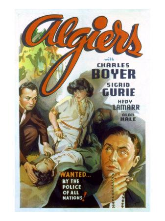 Algiers, Charles Boyer, Hedy Lamarr, 1938 Photo