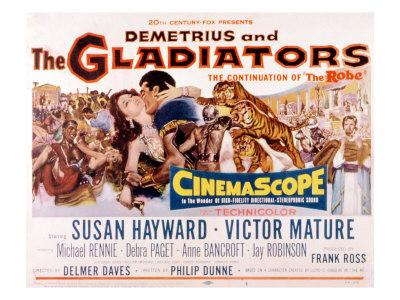 Demetrius and the Gladiators, Susan Hayward, Victor Mature, 1954 Foto