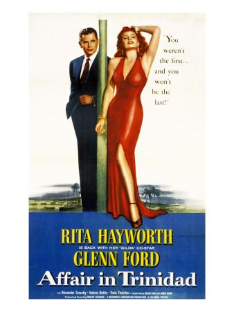 Affair in Trinidad, Glenn Ford, Rita Hayworth, 1952 Photo