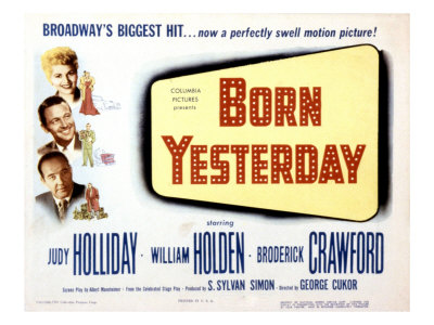 Born Yesterday, Broderick Crawford, Judy Holliday, William Holden, 1950 Foto