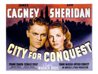 City for Conquest, James Cagney, Ann Sheridan, 1940 Photo