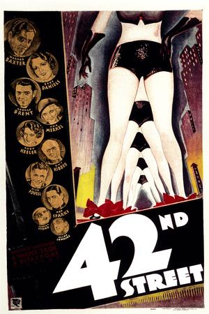 42nd Street, with Warner Baxter, Bebe Daniels, George Brent, and Una Merkel, 1933 Photo
