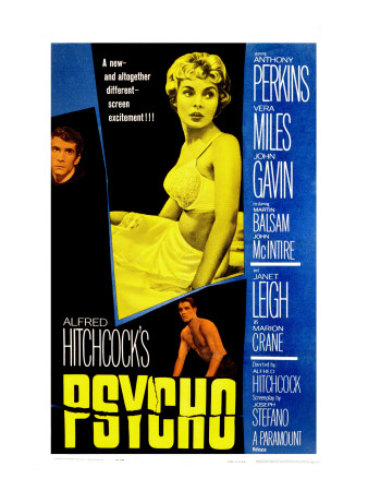 Psycho, Anthony Perkins, Janet Leigh, John Gavin, 1960 Photo