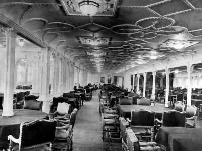 Dining Room on The Dining Room Of The Rms Titanic  Which Sank After Hitting An