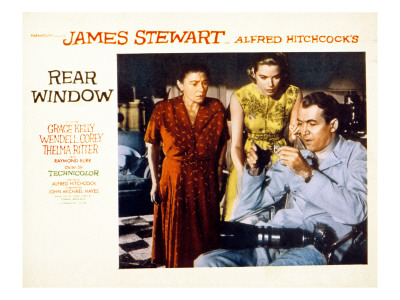 Rear Window, Thelma Ritter, Grace Kelly, James Stewart, 1954 Photo