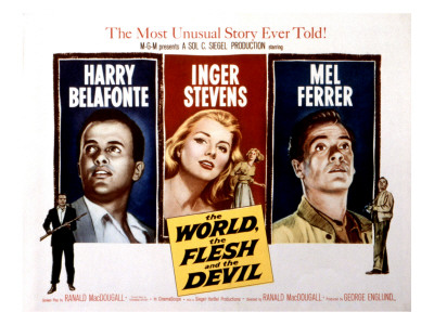 The World, the Flesh and the Devil, Harry Belafonte, Inger Stevens, Mel Ferrer, 1959 Photo