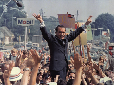 Richard M. Nixon Campaigning for the Presidency, 1968 Photo