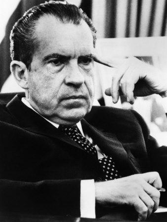 US President Richard Nixon, 1970s Photo