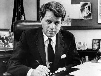 Senator Robert F. Kennedy in His Office, Washington, D.C., March 2, 1967 Photo