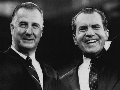Vice President Spiro Agnew and US President Richard Nixon, 1972 Photo