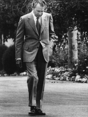 US President Richard Nixon Walking the Grounds of the White House. Washington, D.C., 1971 Photo