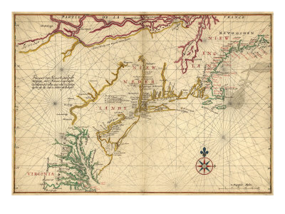 1639 Maps of British Colonies in North America, with Locations of Plymouth and Jamestown Photo