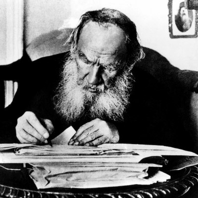 Leo Tolstoy, Russian Writer, Early 1900s Photo