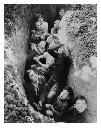 Children in an English Bomb Shelter During the German Bombing of British Cities in 1940-41 Photo