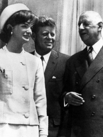Jacqueline Kennedy, President John F. Kennedy and French President Charles De Gaulle, 1963 Photo