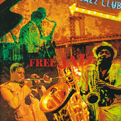 Jazz  on Free Jazz Art Print